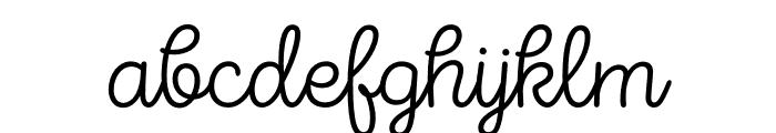 Intro Script Thin Font LOWERCASE