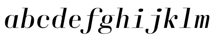 Laplace Mono Light Italic Font LOWERCASE