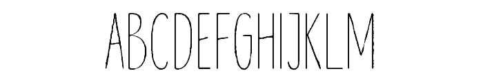 Lonne Rough Extra Light Font UPPERCASE