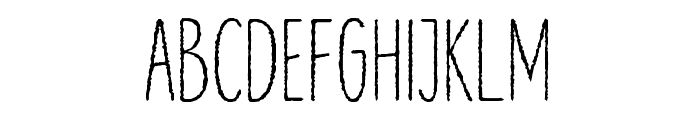 Lonne Rough Light Font UPPERCASE