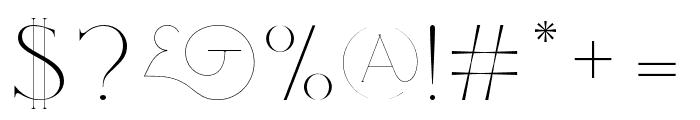 Love Regular Font OTHER CHARS