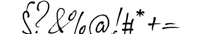Loveletter No9 Regular Font OTHER CHARS