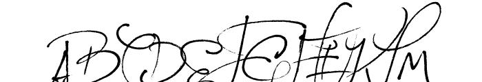 Loveletter No9 Regular Font UPPERCASE
