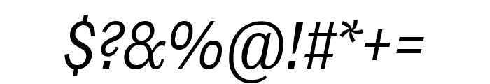 Ludwig Condensed Light Italic Font OTHER CHARS