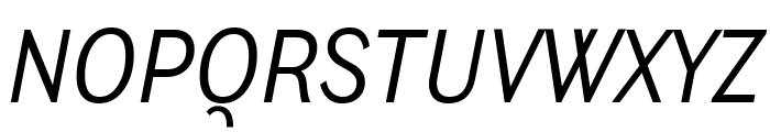 Ludwig Condensed Light Italic Font UPPERCASE