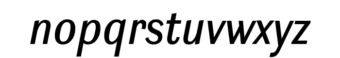 Ludwig Condensed Normal Italic Font LOWERCASE