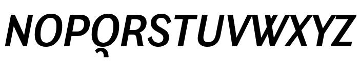Ludwig Condensed SemiBold Italic Font UPPERCASE