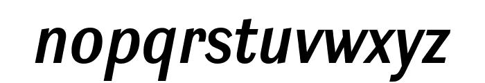 Ludwig Condensed SemiBold Italic Font LOWERCASE