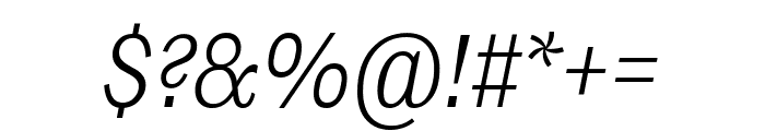 Ludwig Condensed Thin Italic Font OTHER CHARS
