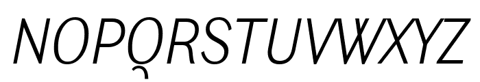 Ludwig Condensed Thin Italic Font UPPERCASE