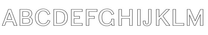 Ludwig Outline Normal Font UPPERCASE