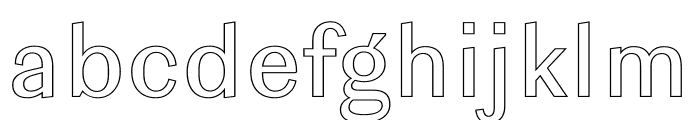 Ludwig Outline Normal Font LOWERCASE