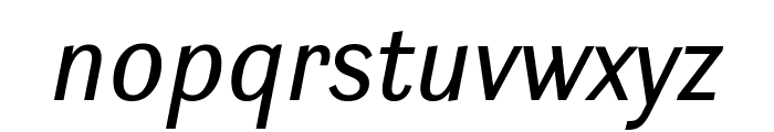 Ludwig SemiCondensed Blond Italic Font LOWERCASE