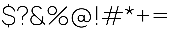Manrope Font OTHER CHARS