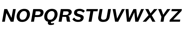 Maple Medium Italic Font UPPERCASE