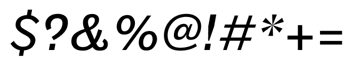Maple Regular Italic Font OTHER CHARS