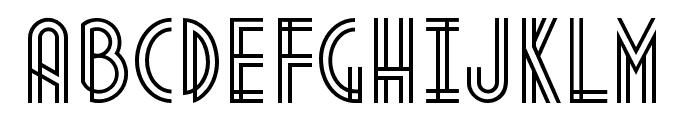 Metropolis 1920 Regular Font UPPERCASE