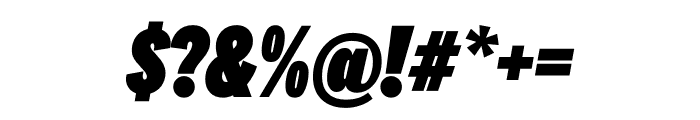 National 2 Compressed Black Italic Font OTHER CHARS