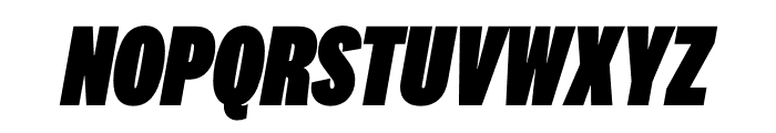 National 2 Compressed Black Italic Font UPPERCASE