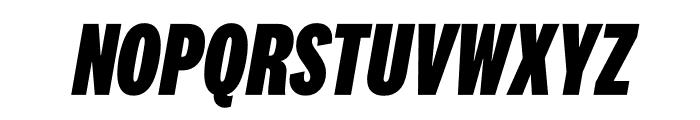 National 2 Compressed Extrabold Italic Font UPPERCASE