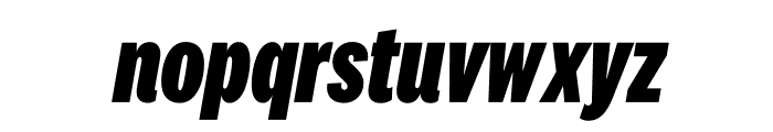 National 2 Compressed Extrabold Italic Font LOWERCASE