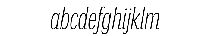 National 2 Compressed Extralight Italic Font LOWERCASE