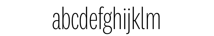 National 2 Compressed Extralight Font LOWERCASE