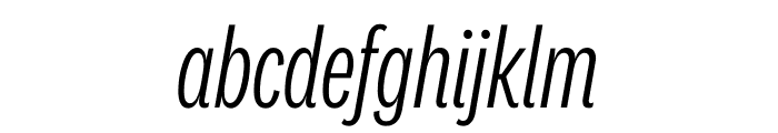 National 2 Compressed Light Italic Font LOWERCASE