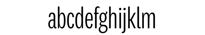 National 2 Compressed Light Font LOWERCASE