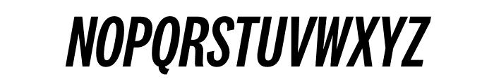 National 2 Compressed Medium Italic Font UPPERCASE