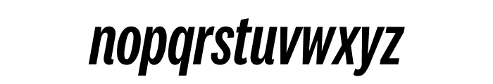 National 2 Compressed Medium Italic Font LOWERCASE