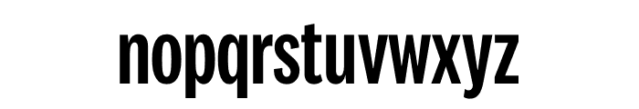 National 2 Compressed Medium Font LOWERCASE