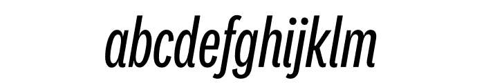 National 2 Compressed Regular Italic Font LOWERCASE