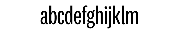 National 2 Compressed Regular Font LOWERCASE