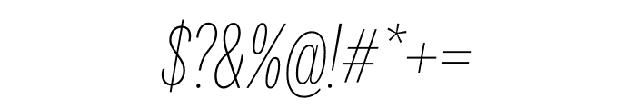 National 2 Compressed Thin Italic Font OTHER CHARS