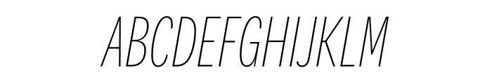 National 2 Compressed Thin Italic Font UPPERCASE