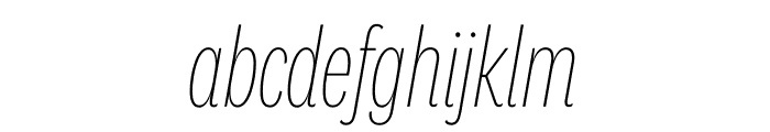 National 2 Compressed Thin Italic Font LOWERCASE