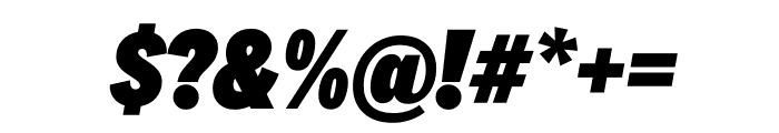 National 2 Condensed Black Italic Font OTHER CHARS