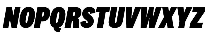 National 2 Condensed Black Italic Font UPPERCASE