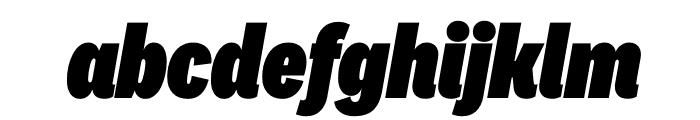 National 2 Condensed Black Italic Font LOWERCASE