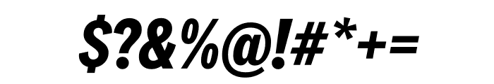 National 2 Condensed Bold Italic Font OTHER CHARS
