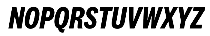 National 2 Condensed Bold Italic Font UPPERCASE