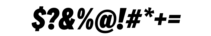 National 2 Condensed Extrabold Italic Font OTHER CHARS