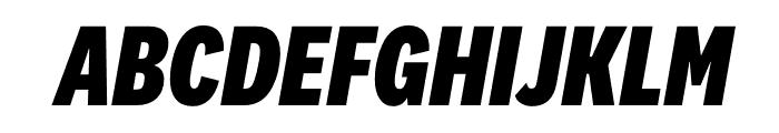 National 2 Condensed Extrabold Italic Font UPPERCASE