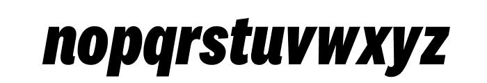 National 2 Condensed Extrabold Italic Font LOWERCASE