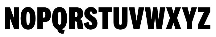 National 2 Condensed Extrabold Font UPPERCASE