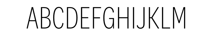 National 2 Condensed Extralight Font UPPERCASE
