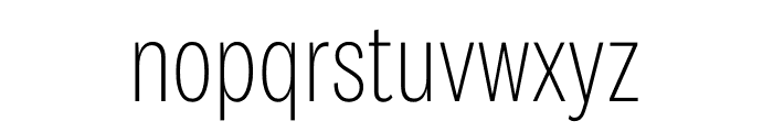 National 2 Condensed Extralight Font LOWERCASE