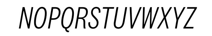 National 2 Condensed Light Italic Font UPPERCASE