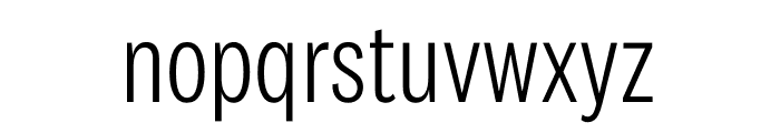National 2 Condensed Light Font LOWERCASE